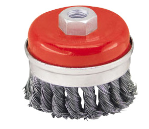 Strengthened twist wire cup brush