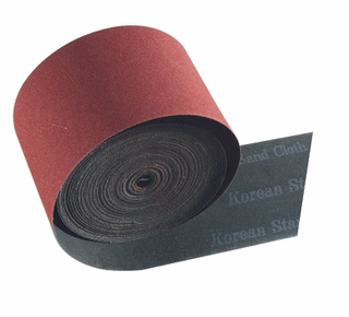 Aluminium oxide abrasive heavy cloth roll